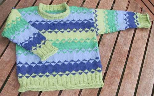 Asgers grøn-blå sweater
