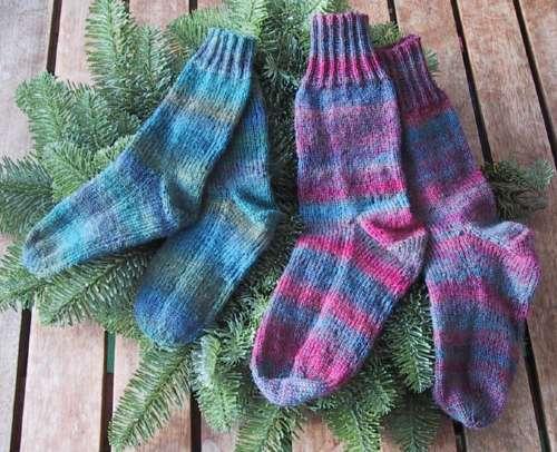 Tweedede mor og søn sokker